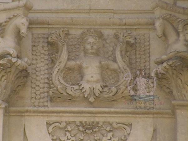 Chiesa del Rosario - Lecce. Sirena bicaudata.
