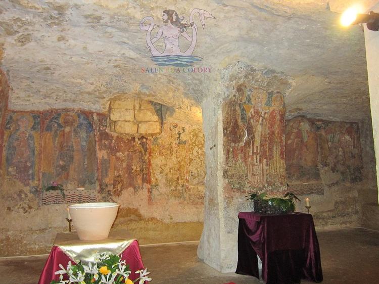 rito bizantino all'interno della cripta di santa cristina