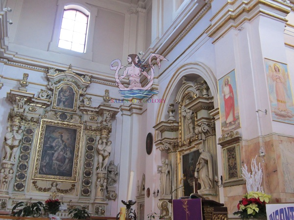 Salice Salentino, chiesa matrice, interni.