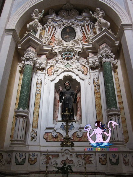 chiesa matrice di diso, interni