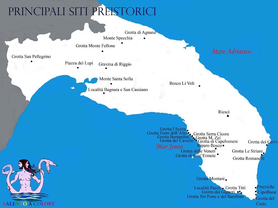 mappa salento preistorico
