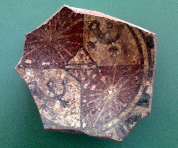 ceramica medievale stemma orsini del balzo
