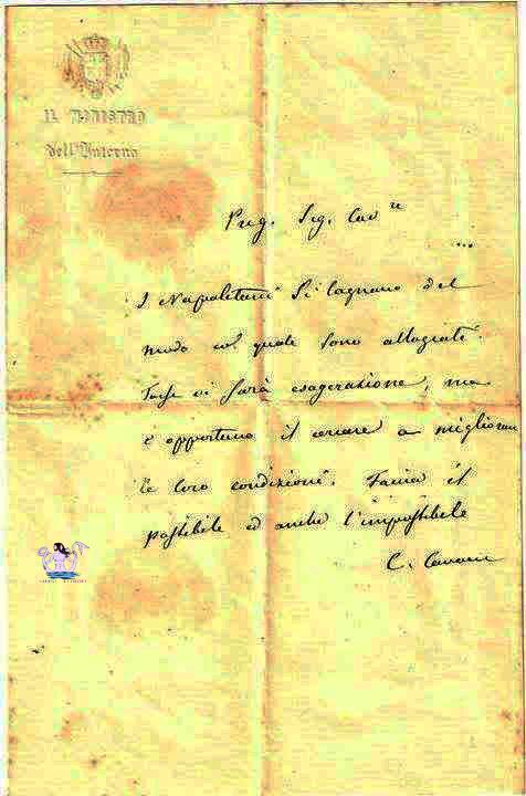 lettera del cavour