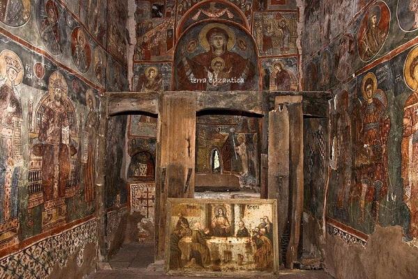The monastery of St Demetrius ,near Boboshevo, Kyustendil Province, Bulgaria. XV cen