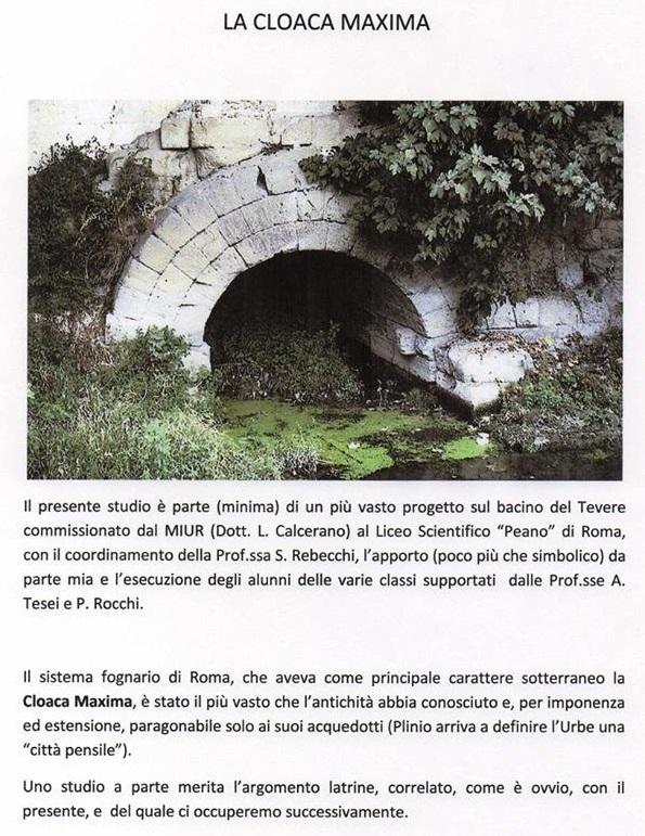 Cloaca massima, Roma antica