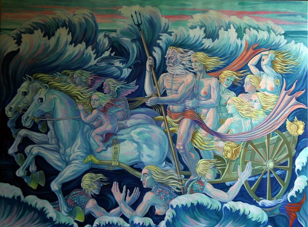 Il Nettuno. Olio su tela, 2010. Cm 200x150