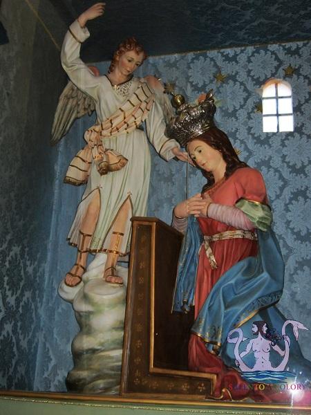 19 Annunciazione, cartapesta, Lecce XIX (forse A.Maccagnani)