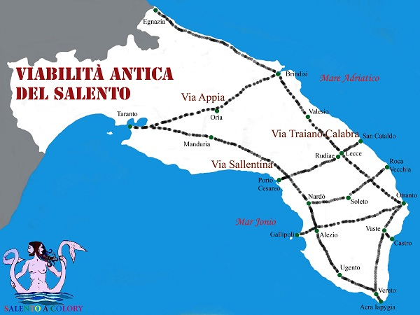 mappa viabilità antica