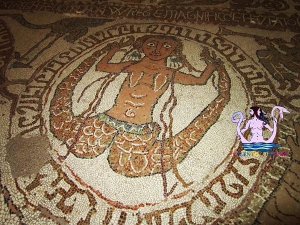 sirena, mosaico di otranto