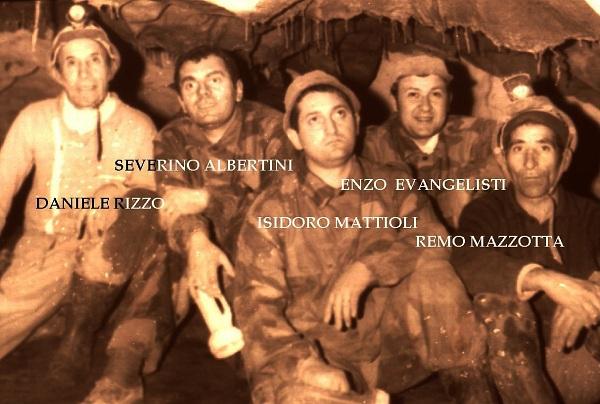 Severino Albertini con gli altri scopritori