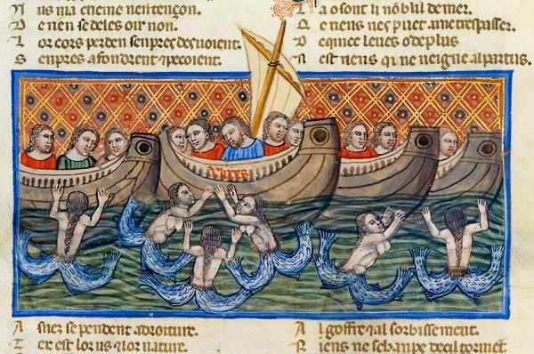 manoscritto francese del 1160, mondo a colori
