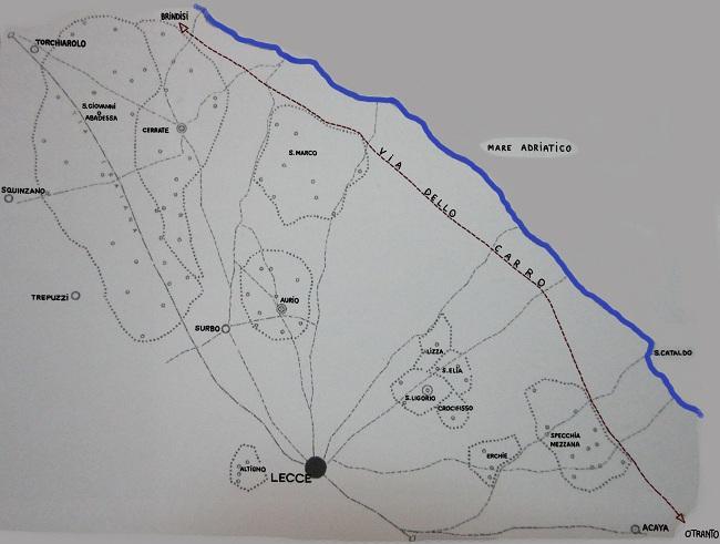 mappa via del carro