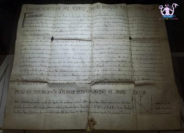 pergamena autografa di Federico II di Svevia