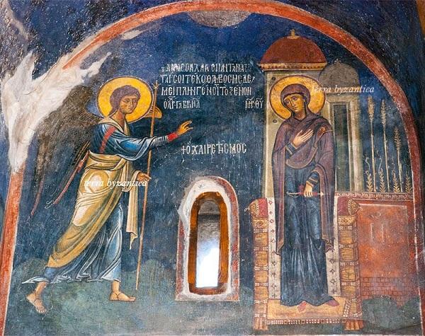 Annunciazione della Beata Vergine Maria XII secolo. mondo bizantino