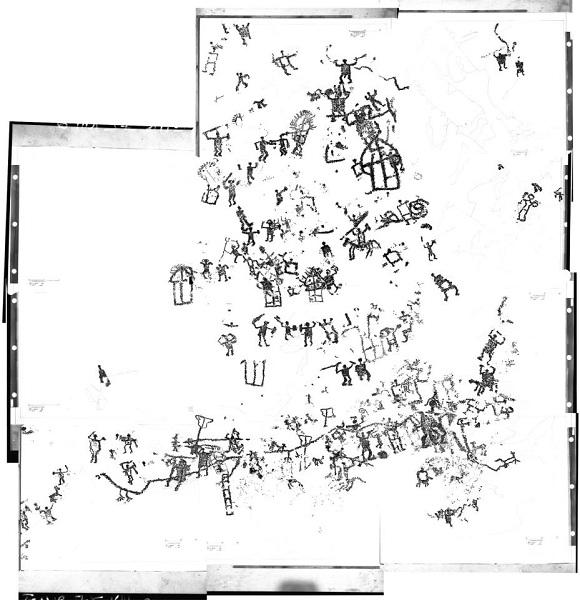 Dos Mirichì, Capo di Ponte - ricomposizione digitale dal rilievo del 1975