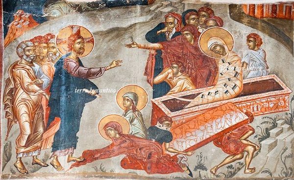 Fresco from the church of St Athanasius of Mouzaki in Kastoria, Greece. XIV cen.