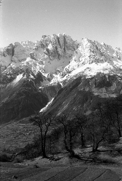 Mt. Concarena from Paspardo (Valcamonica), 1979