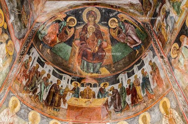 abside Chiesa di s. Stefano -Bulgaria. mondo bizantino